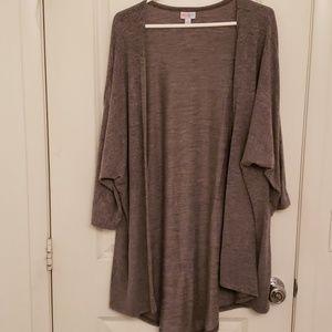 Lularoe Large Grey Sweater Lindsey Kimono